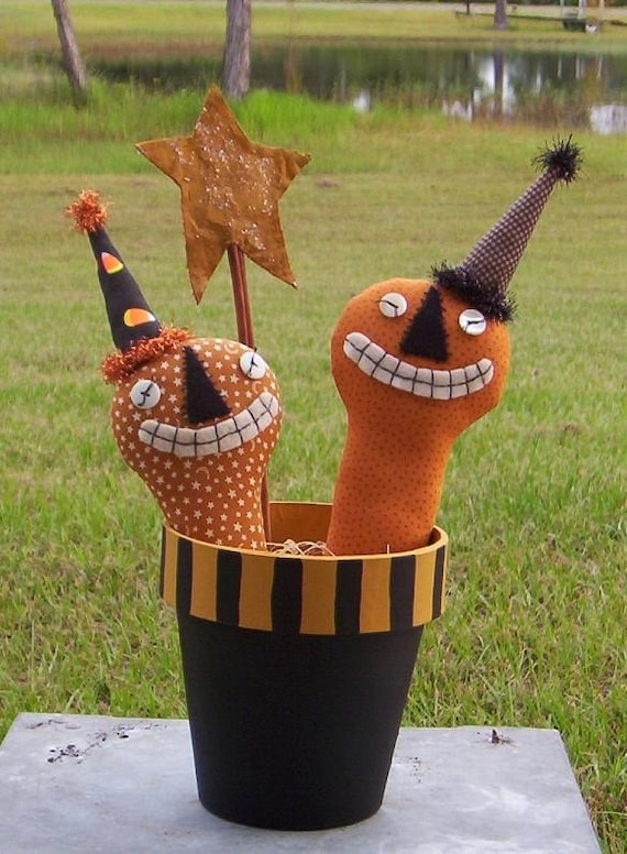 Party Jacks E Pattern - Halloween pumpkin primitive dolls-container pattern Free Shipping; Hafair OFG faap MHA TeamHAHA ADO; Haguild; Norga