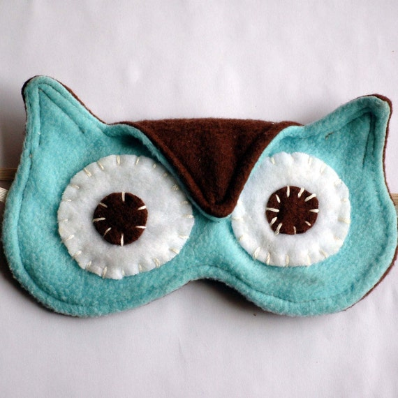 Cute Owl Sleep Mask For Woman Or Children Adjustable
