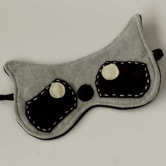 Soft Plushy And Cute Raccoon Sleep Mask / Eye Mask Raccoon Eye Mask