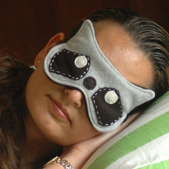 Soft Plushy And Cute Raccoon Sleep Mask / Eye Mask by ... Raccoon Eye Mask