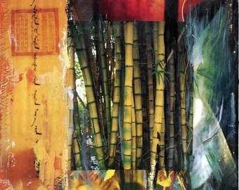 GLOW, 8x10, 11x14, 16x20, Hand Signed Matted Print, bamboo, lantern, zen, wall art, best seller, art, home decor, gift