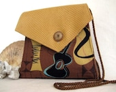 JETSON Handbag in Brown and Gold