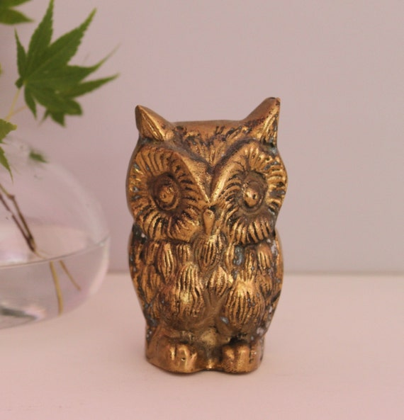 VINTAGE BRASS OWL - Wise