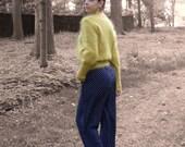 Vintage Fuzzy Yellow Mohair Cardigan