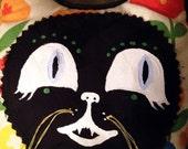 Picnic Cat Art Pillow