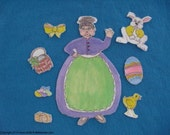 AN OLD LADY WHO SWALLOWED A CHICK FELT BOARD FLANNEL BOARD STORY