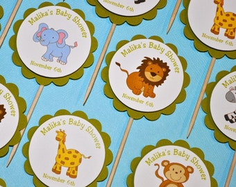 Safari Animal Cupcake Toppers