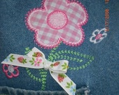 Reserved for Onewildhare...Denim Flower Flap Purse