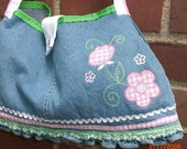 Reserved for onewildhare...Denim Flower Snap Purse