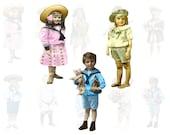 Vintage Children Digital Collage Sheet 1
