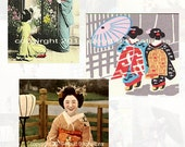 Asian Digital Collage Sheet 3 - Mixed Media