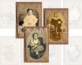 Girls Tintype Photos Digital Collage Sheet