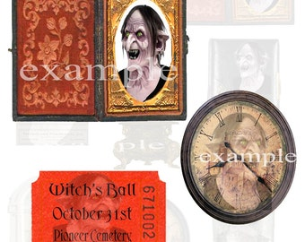 Witchy Miscellany Digital Collage Sheet
