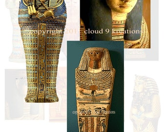 Ancient Egyptian Sarcophagus Digital Collage Sheet...Egypt