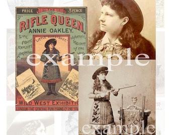 Old West...Annie Oakley Digital Collage Sheet  2