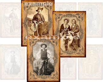 Vintage Cowboys Digital Collage Sheet 2