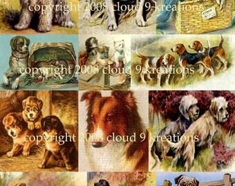Dog Digital Collage Sheet 1