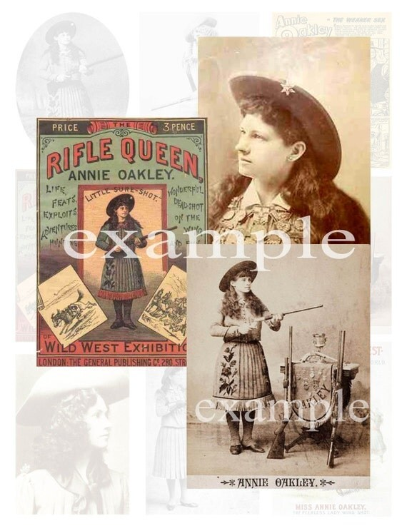 Old West...Annie Oakley Digital Collage Sheet  2