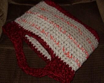 SALE crochet tshirt yarn tote