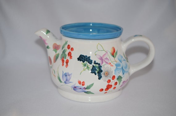 African Violet Tea Pot