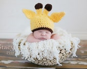 Crochet Baby Hat, Baby Giraffe Hat, Baby Boy Hat, Baby Girl Hat, Newborn Hat, Infant Hat, Newborn Giraffe Hat, Infant Giraffe Hat, Beanie