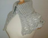Women's Capelet, Crochet Wrap, Crochet Capelet, Womens Cape, Bridal Party, Linen
