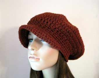 How to Crochet a reggae rasta style slouchy hat