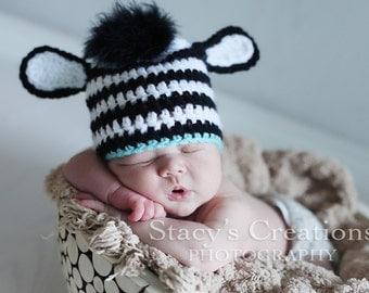 Baby Zebra Hat, Crochet Baby Hat, Baby Boy Hat, Baby Animal Hat, Baby Boy Photo Prop, Baby Boy Gift, Baby Boy Beanie, Baby Zebra Beanie