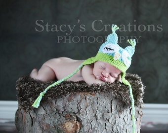 Crochet Owl Hat, Baby Boy Owl Hat, Newborn Owl Hat, Newborn Winter Hat, Infant Animal Hat