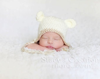 Baby Lamb Hat, Baby Easter Hat, Crochet Baby Hat, Newborn Easter Hat, Baby Boy Easter Hat, Baby Girl Easter Hat, Baby Animal Hat