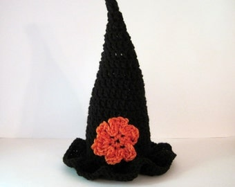 Witch Hat, Baby Witch Hat, Childrens Witch Hat, Toddler Witch Hat, Halloween Costume, Halloween Hat, Childrens Costume, Toddler Costume,