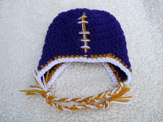 Crochet Football Hat, Baby Football Hat, Crochet Baby Hat, Crochet Infant Hat, Newborn Baby Hat, Baby Boy Hat, Infant Boy Hat, Newborn,