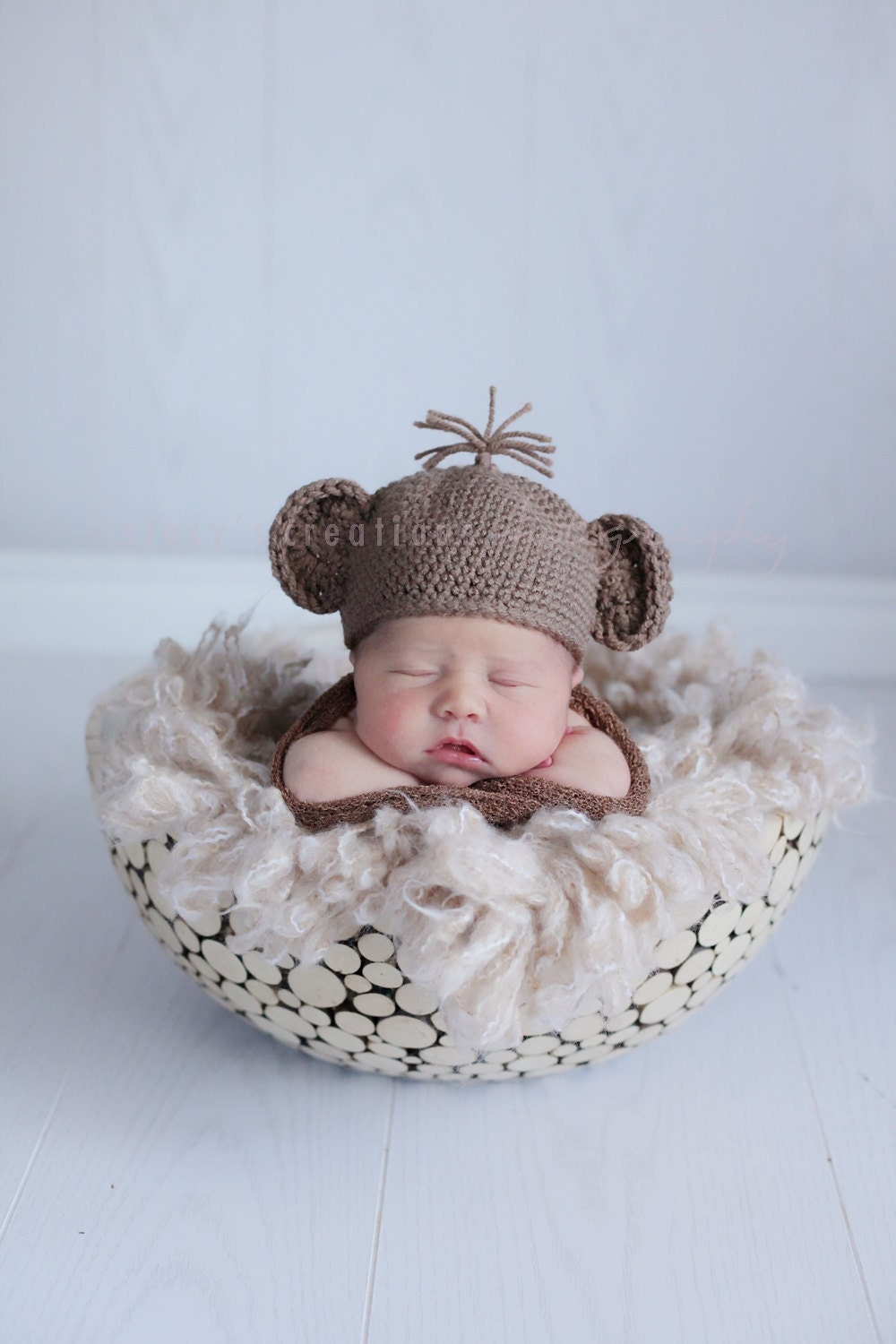 Baby Monkey Hat Crochet Baby Hat Baby Halloween by ...