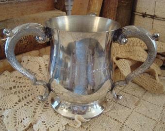 Silver Metal Ornate Trophy