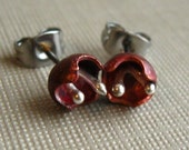 Sterling Silver and Copper Bell Flower Earrings - Urban Beautification