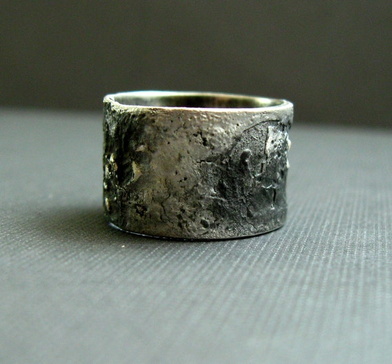 Reserved - Silver Unisex Ring - Pavement