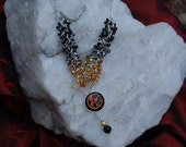 HUNGER GAMES inspired Shaggy Loop Necklace/Pendant -