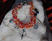 HUNGER GAMES Katniss, Girl on Fire, Peeta - Shaggy Loop Charm Bracelet -