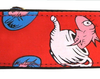 "Dr. Suess Fish Red 2"" Martingale Collar-"