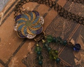 SALE  Ferris Blue Necklace -  The Vintage Carnival Collection by Terah Ware