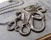 Gunmetal Octopus Necklace - L1