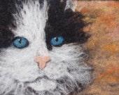 Custom Pet Portrait- 8x10 Felted-Wool Wall Hanging
