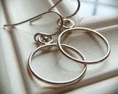 Round, Hoop,  Sterling Silver Earrings. Smooth Earrings by AnastassiaDesigns