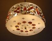 Retro Mid-Century  Crystal Pendant Light