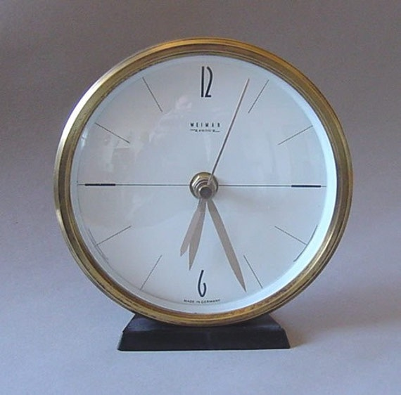 mid century modern table wall clock by artyczechs on etsy