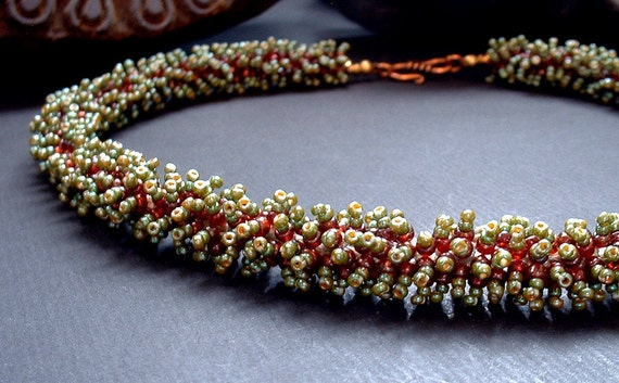 Minia - Beadwork Necklace by Michelle Bush