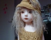 Automne doré handknitted outfit for 13 inches doll as Little Darling, Minouche or Narsha, Zihu by Soudane
