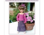 48. English and  French INSTANT DOWNLOAD PDF knitting Pattern msd bjd Kaye Wiggs dolls 18""