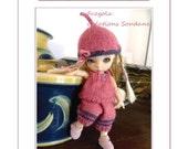 "56. English and  French INSTANT DOWNLOAD PDF knitting Pattern Pukifee Fairyland Nappychoo Soom 5-6""( 12-15cm) yosd"