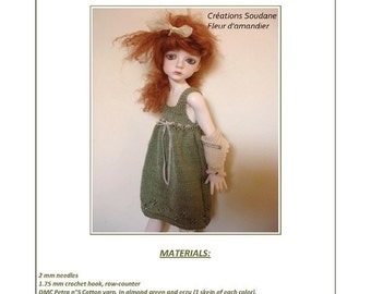 20. English and  French INSTANT DOWNLOAD PDF knitting Pattern msd bjd Kaye Wiggs dolls 18""